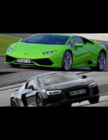 Driving experience Lamborghini Huracan + Audi R8 combo 2 cars up to 2x6 laps