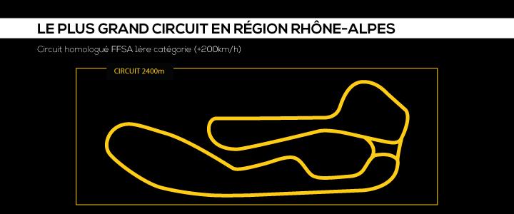 Tracé du Circuit du Laquais, pilotez sur le plus grand circuit de Rhône-Alpes