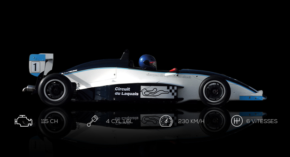Stage de pilotage Formule Renault 27 tours (1/2 journée) - Circuit du Laquais